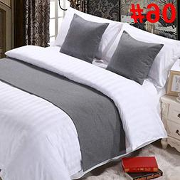 QCQZPL Bed Runner Hotel Hotel Bedding high-Grade Solid Color