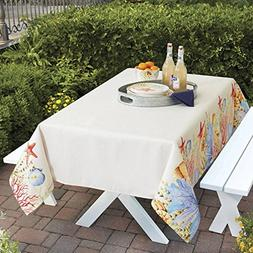"Better Homes and Gardens Sea Life Fabric Tablecloth 52"" x 70"
