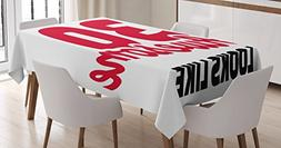 Ambesonne 30th Birthday Decorations Tablecloth, Thirty and A