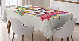 Ambesonne 36th Birthday Decorations Tablecloth, Thirty Six Y