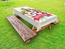 Ambesonne 36th Birthday Outdoor Tablecloth, Thirty Six Years