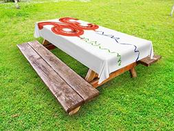 Ambesonne 36th Birthday Outdoor Tablecloth, Cute Fluffy Flyi