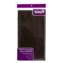 """PACK OF 4 BLACK Disposable Plastic Tablecloths, 54 x 108"""""""