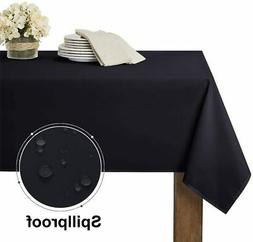 RYB HOME Black Table Cloth for 6 ft Rectangle Tables, Wrinke