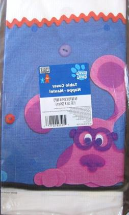 BLUE'S CLUES Party Table Cover BLUE, PERIWINKLE & MAGENTA 54