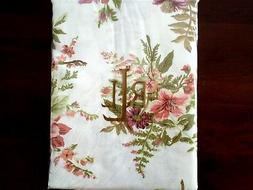 bluff point floral rust tablecloth