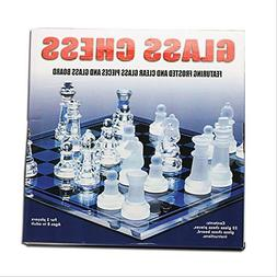Board Game Fine Glass Chess Game Set Solid Glass Chess Piece
