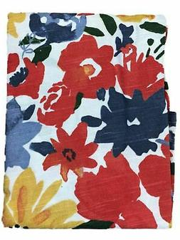 Threshold Bright Watercolor Floral Tablecloth, Cotton Table