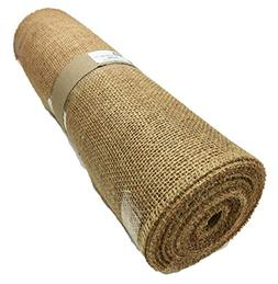 AK TRADING Burlap Table Runner Roll, No Fray Edges, Makes 3-