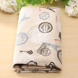 Cartoon Pattern Cotton Linen Fabric Cloth Patchwork For Tabl