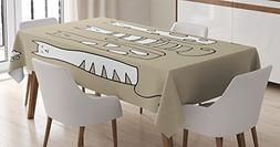 Ambesonne Cat Lover Decor Tablecloth, Contemporary Graphic o
