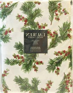 Ralph Lauren Cedarberry White Tablecloth, 60-by-120 Inch Obl