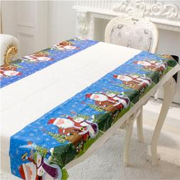 Christmas Disposable Tablecloth Festive <font><b>Rectangle</