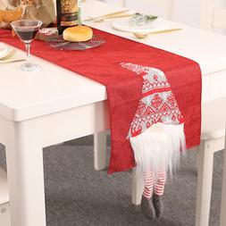 Christmas <font><b>Table</b></font> Runner Gnome Dust Proof