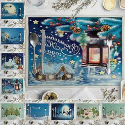 Christmas Lovely Dining Kitchen Decorations Heat Insulation