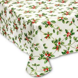 christmas rectangle tablecloth 60 x 84 holly