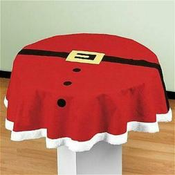 Christmas Table Cloth Cover Prints Dust Proof Xmas Party Hom
