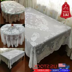 Christmas Table Cloth Lace Table Cover Wedding Holiday Xmas