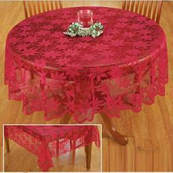 christmas table cloth red lace table cover