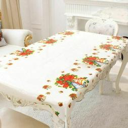 christmas tablecloth rectangular linen home kitchen dining