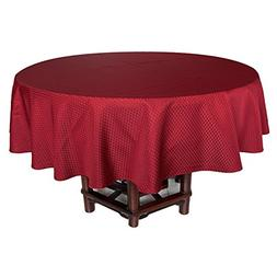 Eforcurtain Classic Brick Red Fabric Table Cover Waffle Weav
