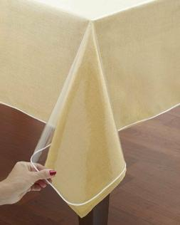 classic crystal clear tablecloth cover vinyl table