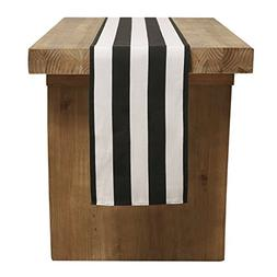 """Ling's moment Classical Durable 2"""" Wide Black White Striped"""
