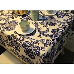 classical rural floral flax tablecloth