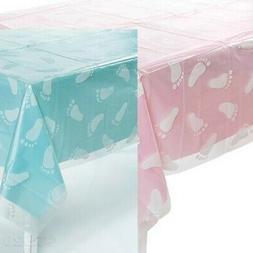 Clear Baby Footprint Tablecloth BABY SHOWER PARTY DECOR BOY