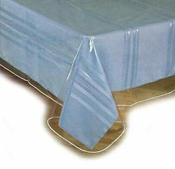"Clear Plastic Table Cloth Cover Spills Protector 60""x90"" Siz"