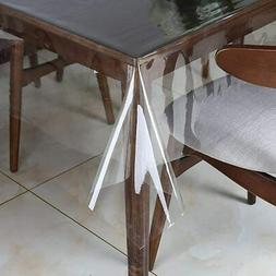 Clear Plastic Transparent Tablecloth Protector Water Proof H