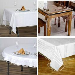 Clear PLASTIC Vinyl TABLECLOTH Protector Table Cover Caterin