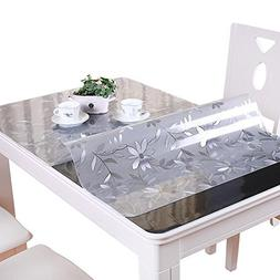 clear table cover protector pvc