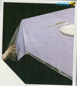 Clear Vinyl Tablecloth Durable Plastic Table Cover Spills Pr