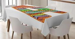 Colorful Letters Tablecloth Ambesonne 3 Sizes Rectangular Ta