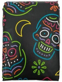 Colorful Vinyl Tablecloth w Flannel Backing Halloween Theme