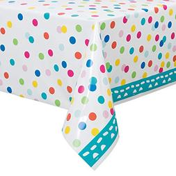 "Confetti Cake Birthday Plastic Tablecloth, 84"" x 54"""