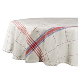 "DII Cooperville Plaid Tablecloth, 100% Cotton with 1/2"" Hem"