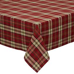 """DII Campfire Plaid Square Tablecloth, 100% Cotton with 1/2"""""""