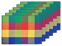 """DII 100% Cotton, Ribbed 13x 19"""" Everyday Basic Placemat Set"""