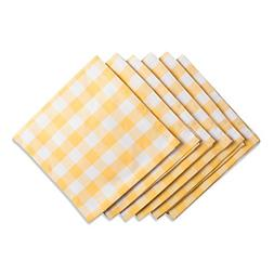 "DII Oversized 20x20"" Cotton Napkin, Pack of 6, Yellow & Whit"