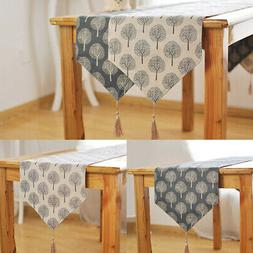 Cotton Linen Table Runner Home Table Cloth Party Wedding Eve