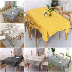 Cotton Linen Tablecloth Tea Cloth Dining Kitchen Table Cover