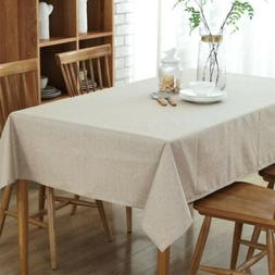 cotton linen tablecloth thick rectangular wedding dining