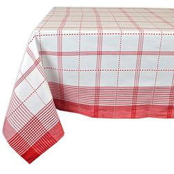"""Country Plaid Square Tablecloth, 100% Cotton with 1/2"""" Hem"""