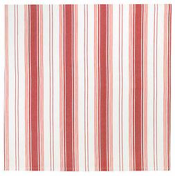 "100% Cotton Red & White Striped 60x60"" Tablecloth - Galley R"