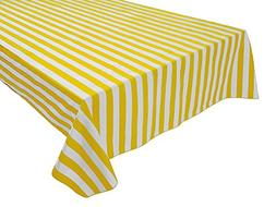 lovemyfabric Cotton 1 Inch Striped Tablecloth for Wedding/Br