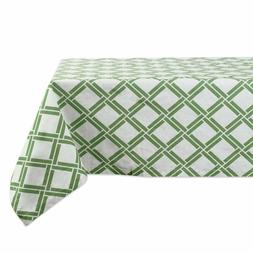 "DII Cotton Tablecloth Bamboo Lattice 60x120"" Rectangle"