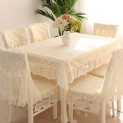 JH tablecloths Country Style Check lace Square Chair Back Co
