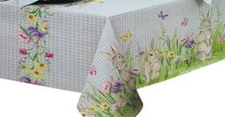 Country Gingham Easter Spring Bunny Meadow 100% Polyester Ta
